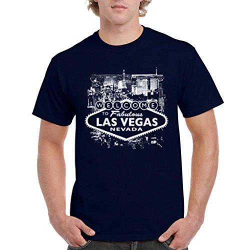 Artix A+ Welcome to Las Vegas Nevada Men T-shirt X-Large Navy Blue