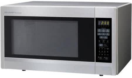 Refurbished Sharp R-551ZS 1.8 cu ft 1100W Microwave Oven, Stainless Steel