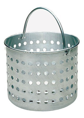 (Update International (ABSK-20) 20 Qt Aluminum Steamer Basket,Silver)