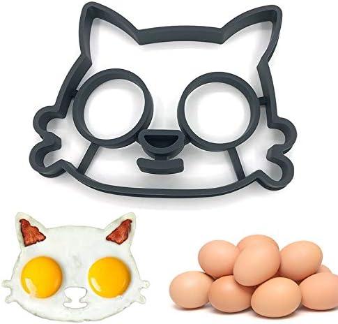 YUTALOW Molde de silicona para huevos fritos con forma de gato ...