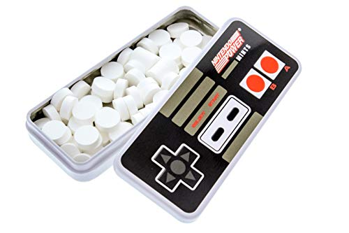 """Nintendo Controller Mints - Vintage Nintendo Power Controller Tin - Includes """"How To Build a Candy Buffet"""" Guide (18 Pack Display)"""