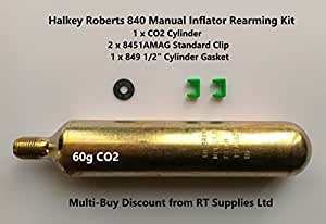 Rearming Kit for Halkey Roberts Manual Inflator (60G CO2)