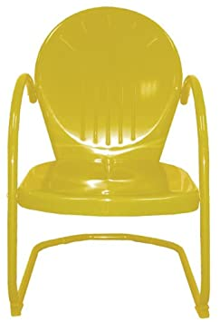 Rich Pacific 34 Sunshine Yellow Outdoor Retro Metal Tulip Chair