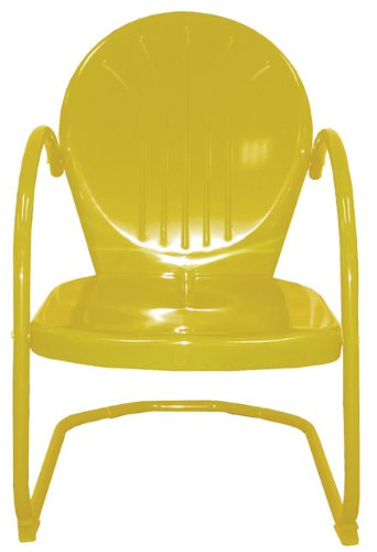 Rich Pacific 34 Sunshine Yellow Outdoor Retro Metal Tulip Chair