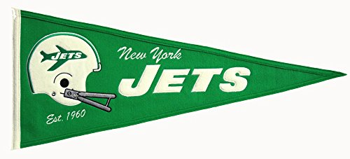 Winning Streak NFL New York Jets Throwback Pennant