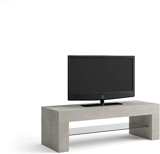 Mobili Fiver, Evolution Mueble de TV, Madera de Roble, Color Cemento, 112 x 40 x 36 cm: Amazon.es: Hogar