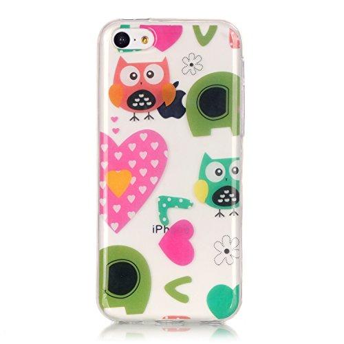 Hülle iPhone 5C , LH Englisch Schreiben Tasche Schutzhülle TPU Weich Muschel Silikon Handyhülle Schale Cover Case Gehäuse für Apple iPhone 5C