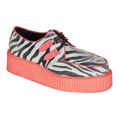 c9ca9646fc22a Galleon - 2 Inch Mens Platform Shoe Zebra Cheetah Veggie Creeper ...