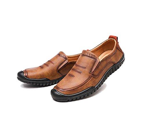 Zapatos Oxford De Y Otoño Transpirable Playa Primavera Yellow Hombres Guisantes Cuero RwRxHqrS