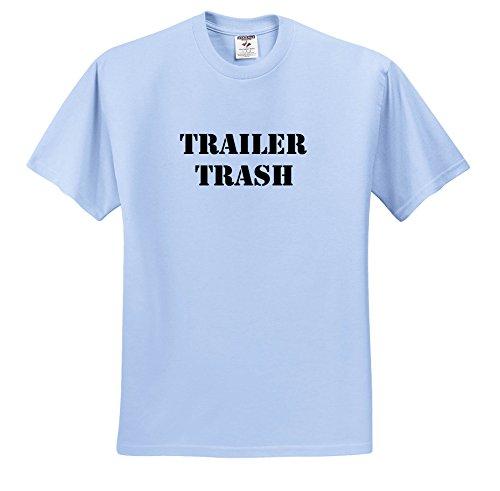 3dRose Trailer Trash - Trailer Trash Black - T-Shirts - Light Blue Infant Lap-Shoulder Tee (18M) (TS_261008_75)