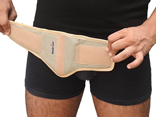 Wonder Care- Inguinal Hernia Support Truss for Single Inguinal or Sports Hernia with one Removable Compression Pads & Adjustable Groin Straps Surgery & injury Recover A-103 Right-S by Wonder Care (Image #3)