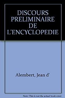 Discours préliminaire de l'encyclopédie, Alembert, D'