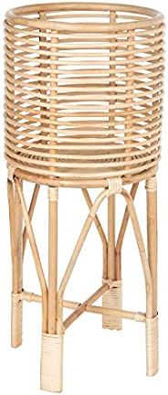 KOUBOO Rattan Indoor Plant Stand, Medium, Natural Planter Brown