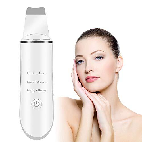 Ultrasonic Skin Scrubber Facial Spatula Face & Body Exfoliator Scrub, Comedone Extractor & Blackhead Remover   2019 Premium Beauty Tool (Best Facial Toner Machine 2019)