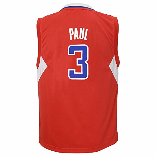 adidas NBA Little Kid's Los Angeles Clippers Chris Paul Away Replica Jersey, Red - Paul Youth Jersey Chris