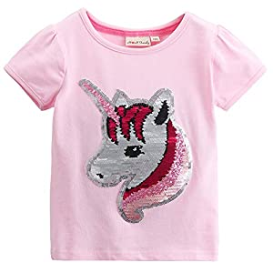 Hh Family Flip Sequin Unicorn Shirt Tee For Girls 3 12 Years