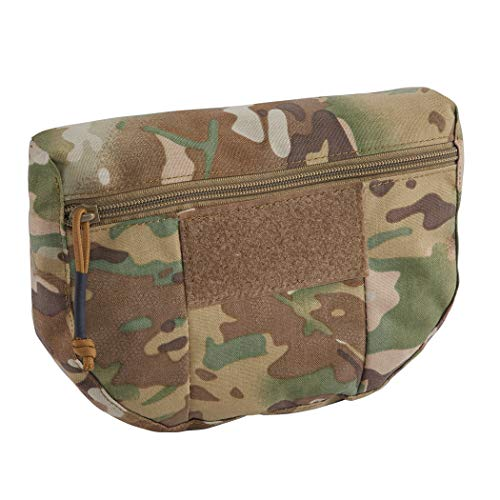 IDOGEAR Tactical Dump Drop Pouch Utility Bag Tool Bag for JPC CPC AVS Tactical Vest Airsoft Hunting Skirmish Outdoor Sports ()