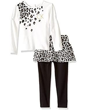 Baby Girls' Solid and Printed 2 Piece Skegging Set