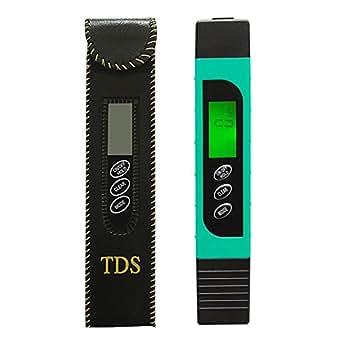 Amazon.com: Medidor digital de calidad del agua TDS EC PH ...