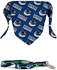 The Sports Vault NHL Licensed 6IN Leash & PET Bandana Vancouver Can