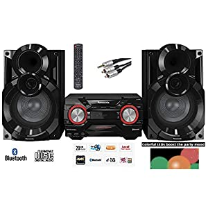 Panasonic SC-AKX400EB-K 600W RMS Home System Wireless with 2GB internal Memory MAX Juke box Double USB & Colour Changing…