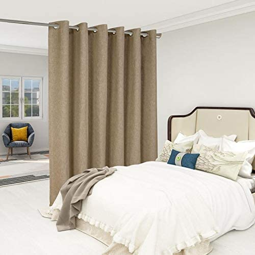 LORDTEX Burlap Linen Look Textured Room Divider Curtain
