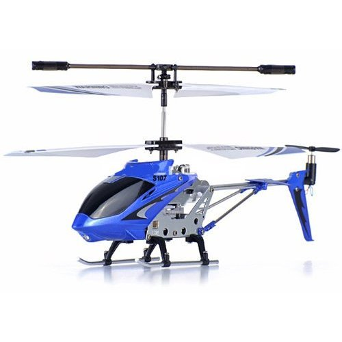 NC® GIFT SET OF 3 Genuine Syma S107G 3 Channels Mini Indoor Co-axial Metal Body Frame & Built-in Gyroscope Remote Controlled RC Helicopter (1) Blue (1) Green (1) White With 3 AC Chargers
