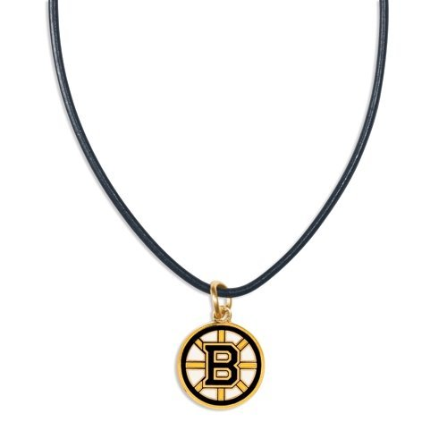 WinCraft NHL Boston Bruins Necklace with Leather