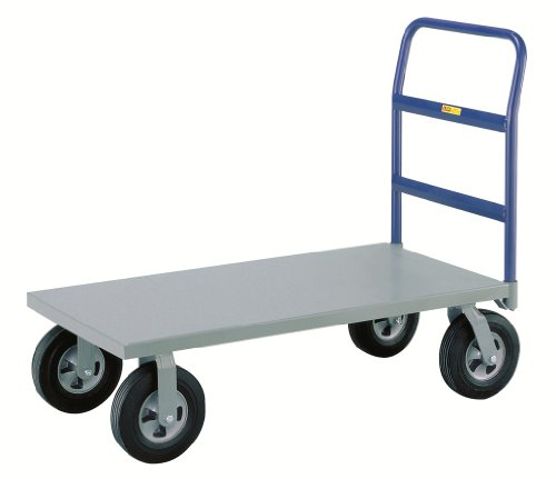 Little Giant NBB-3048-10SR Steel Deck Cushion-Load Platform Truck with 10