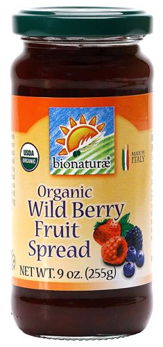 Bionaturae Organic Fruit Spread Wild Berry -- 9 oz - 2 pc