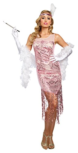 Dreamgirl Women's Miss Daisy, Pink, Medium - Daisy And Gatsby Halloween Costume