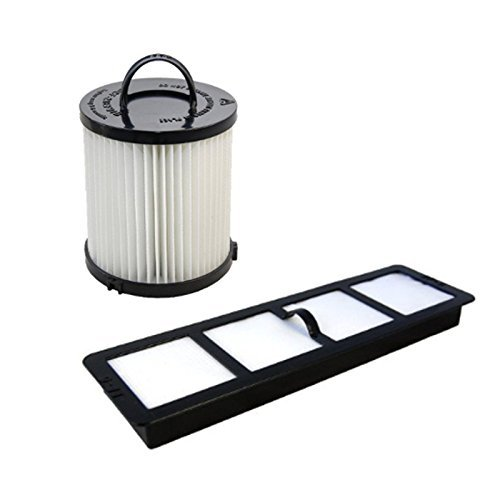HQRP Washable Dust Cup Filter and Exhaust Filter for Eureka