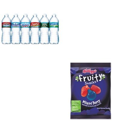 kitkeb29665nle101243-value-kit-kelloggs-fruity-snacks-keb29665-and-nestle-bottled-spring-water-nle10