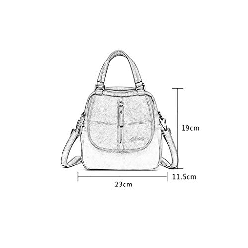 5 Scuro Zipper Moda 11 Scuro Ladies Pu Handbag Blu Grigio colore Leather Zaino Lock 19cm Five Alla Backpack 23 Colors AzwxqTgpC