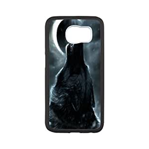 Chaap And High Quality Phone Case For Samsung Galaxy S6 -Wolf And Moon Pattern-LiShuangD Store Case 9