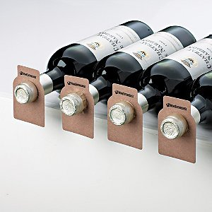 Wine Enthusiast Bottle Tags Walnut