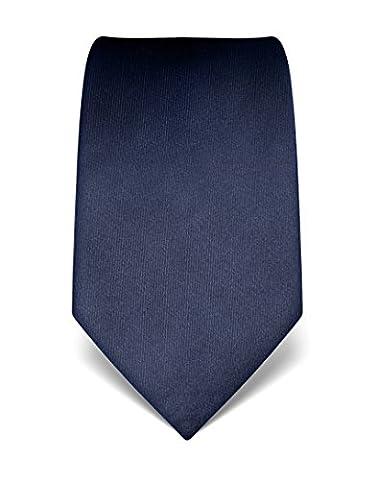 Vincenzo Boretti Men's Silk Tie - plain colored - many colors (Seta Zipper)