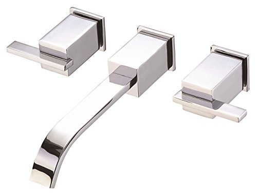 Danze D316144T Sirius Two Handle Wall Mount Lavatory Faucet Trim Kit, Valve Not Included, Chrome