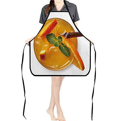 Jiahong Pan Apron Men Women for Kitchen Orange soda Drink Isolate on White backgroun from top View Cooking,Chef,BBQ, and Grill - Shop Soda Apron