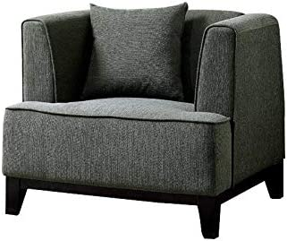 Furniture of America Waylin Transitional Fabric Accent Chair in Gray
