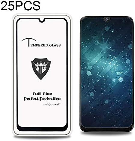 Black Glass Film Color : Black DESHENG Clear Screen Protector 25 PCS MIETUBL Full Screen Full Glue Anti-Fingerprint Tempered Glass Film for Galaxy M30