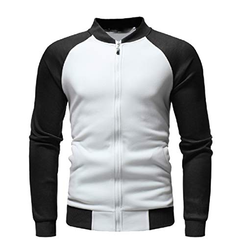 Contrast Raglan Men As Coats Loose Picture Sweatshirt Casual Howme Jacket Fleece FBxUx