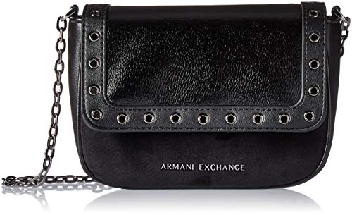 (A|X Armani Exchange Small Grommets Crossbody Bag, nero)