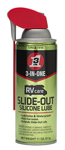 3-IN-ONE RVcare Slide-Out Silicone Lube with Smart Straw Sprays 2 Ways, 11 OZ [6-Pack]