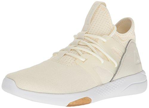 Reebok Women's Hayasu Running Shoe, Chalk Gum/Amber Gold/Classic White, 8 M US
