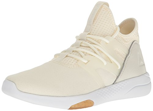 Reebok Women's Hayasu Running Shoe, Chalk/White/Gum/Amber Gold/Classic White, 7 M US