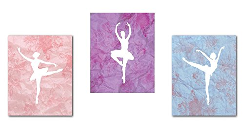 Ballerina Decor 05x07 Inch Print, Ballet Dancer Collection, Ballerina Silhouette, Wall Art Prints, Kid's Room Decor, Gender Neutral Nursery Decor, Baby Room, Ballet Decor, Girl's Room - Ballerina Decor Room