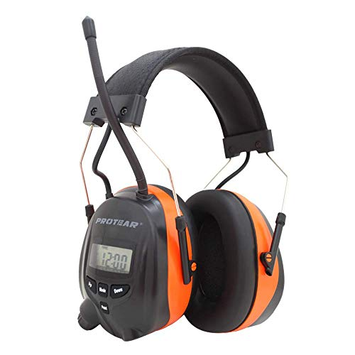 PROTEAR Bluetooth AM FM Radio Noise Reduction Safety Ear Muffs,MP3 Compatible NRR 25dB Electronic Ear Hearing Protection for Mowing/Working
