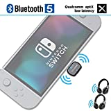 Giveet USB-C Bluetooth Audio Transmitter Adapter Support in-Game Voice Chat, Dual Link aptX Low Latency Compatible with Nintendo Switch, Wireless Gaming Headphones and PC