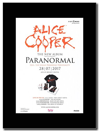 - Alice Cooper - Paranormal. - Magazine Promo on a Black Mount by gasolinerainbows